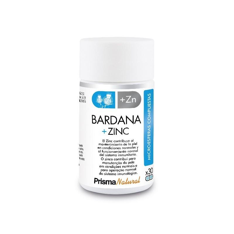 BARDANA + ZINC. 30 microesferas de Prisma Natural