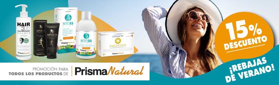 Descuento del -15% en los productos de Prisma Natural